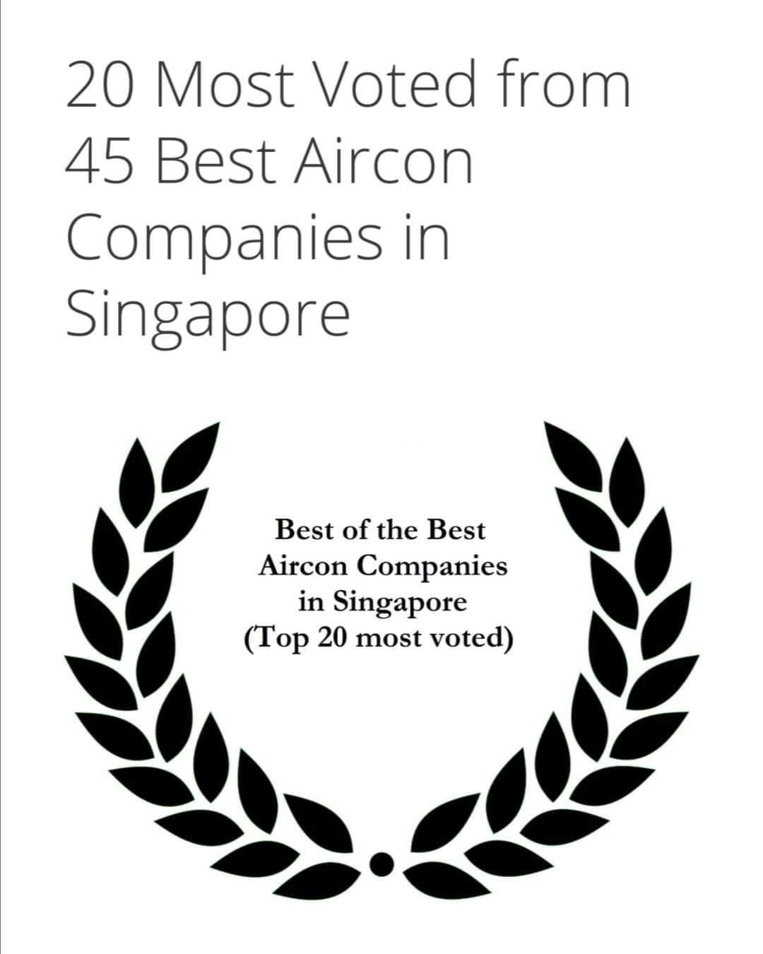 Best of Best Top 20 in Singapore