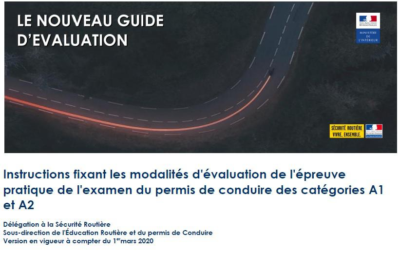 Le Guide D Evaluation Des Inspecteurs Pour Les Permis Moto 2020 3 3