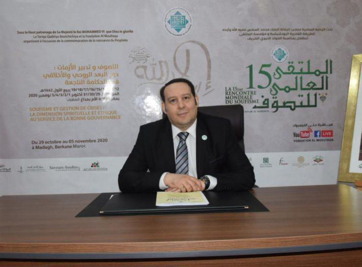 الدكتور منير القادري يفتتح الملتقى العالمي الإفتراضي للتصوف