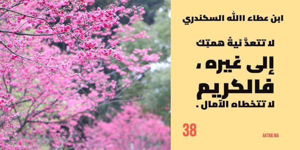 الحكمة 38  - ابن عطاء الله السكندري