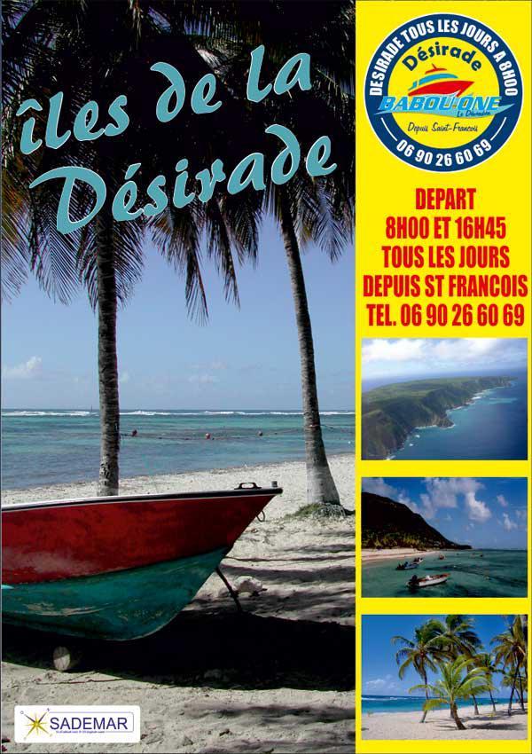 Liaisons Maritimes vers La Désirade, Les Saintes et Marie Galante