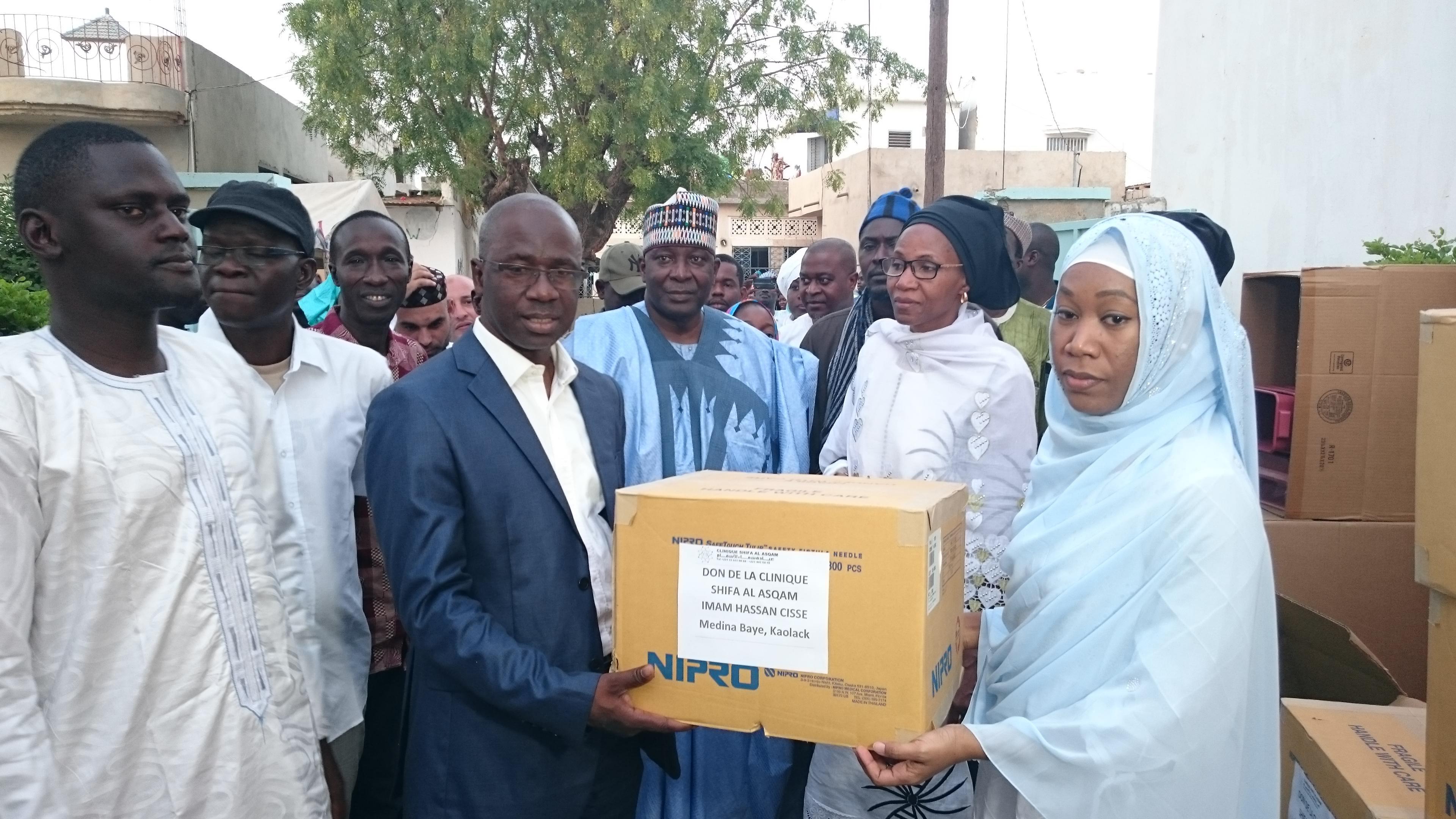 Kaolack : L'institut Islamique Africain-Américain et la clinique de l'imam Cheikh Hassan Cissé offrent du matériel médical à l'hôpital régional El Hadj Ibrahima Niass