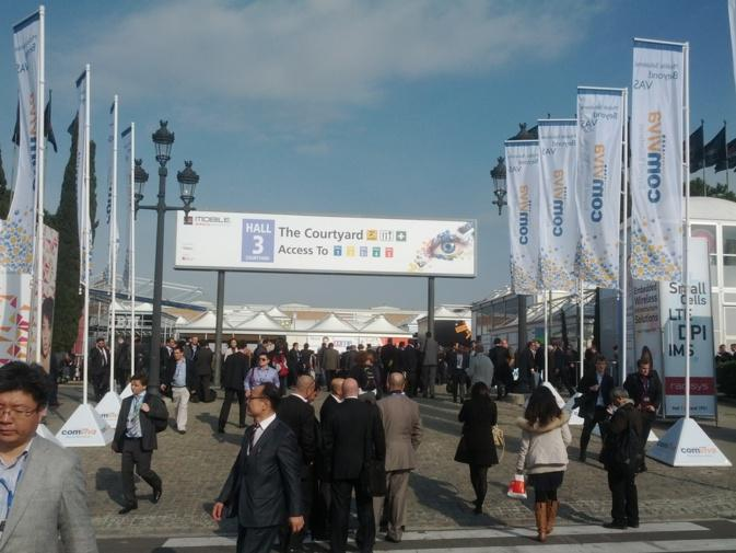 En plein centre du Mobile World Congress