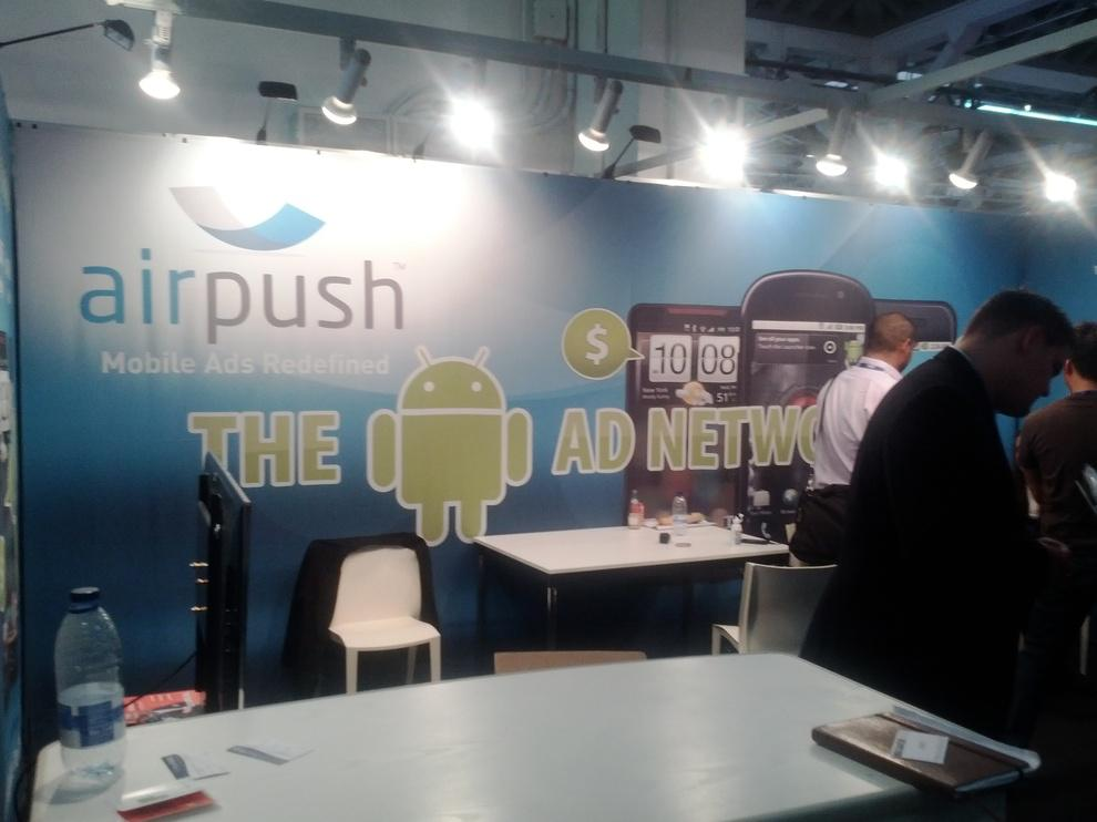 Stand AirPush, dans le Hall 7 (AppPlanet)