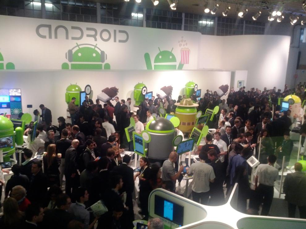 Stand Google Android, dans le Hall 8