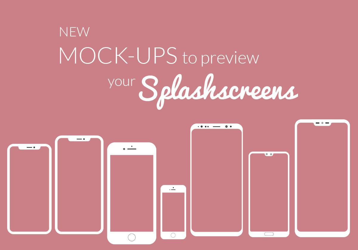 De nouveaux mock-ups pour visualiser vos écrans de lancement
