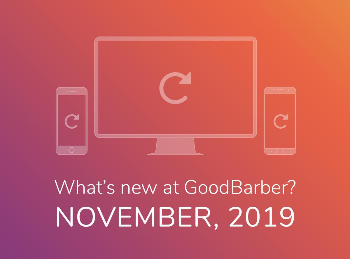Quoi de neuf chez GoodBarber? Novembre 2019
