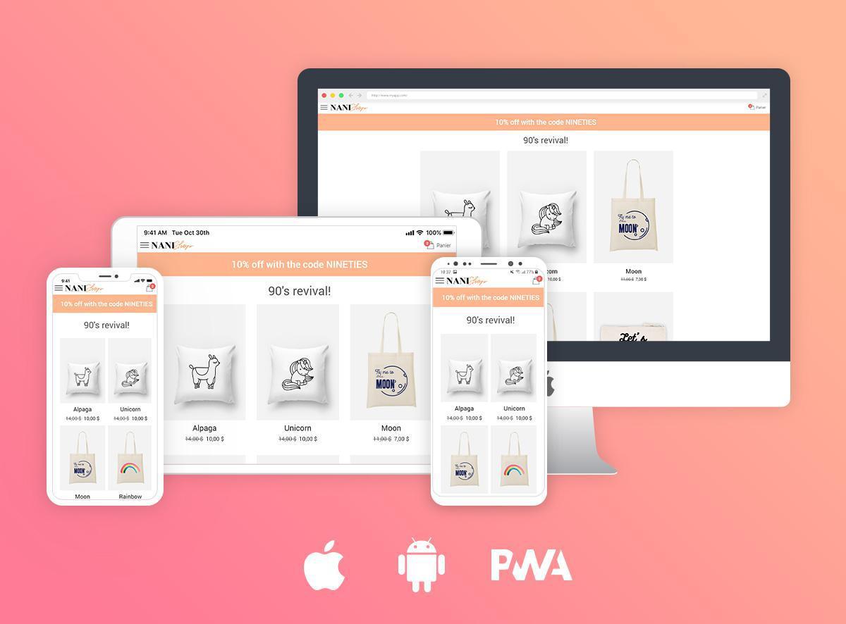 Votre boutique sur un site mobile ou sur application?