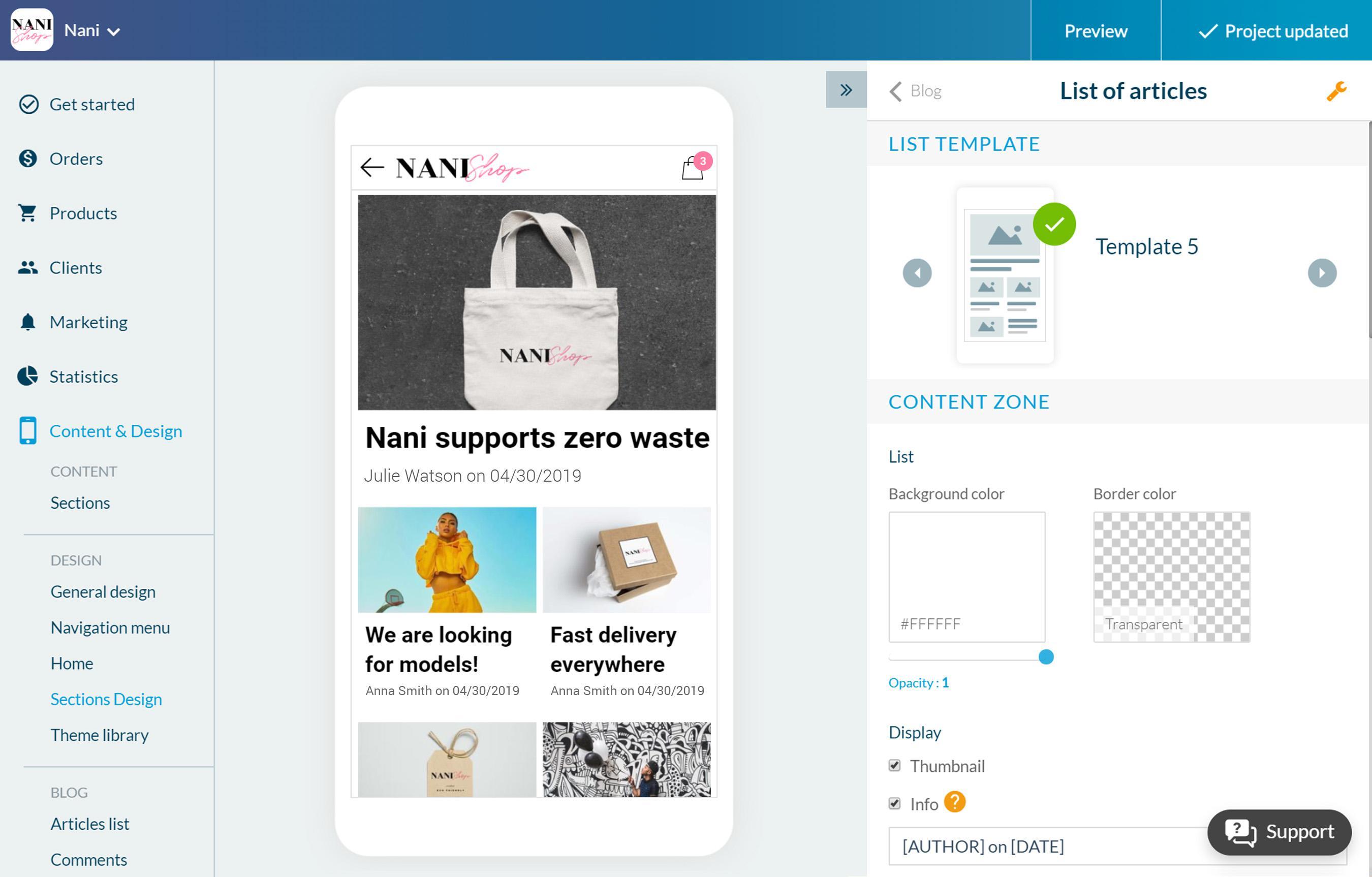Enrichissez votre Shopping App avec un Blog