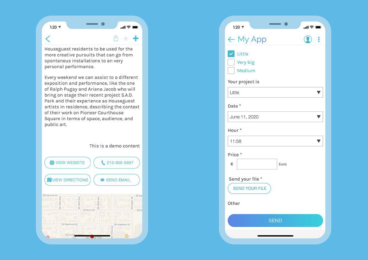 App classic - mise a jour du design des boutons