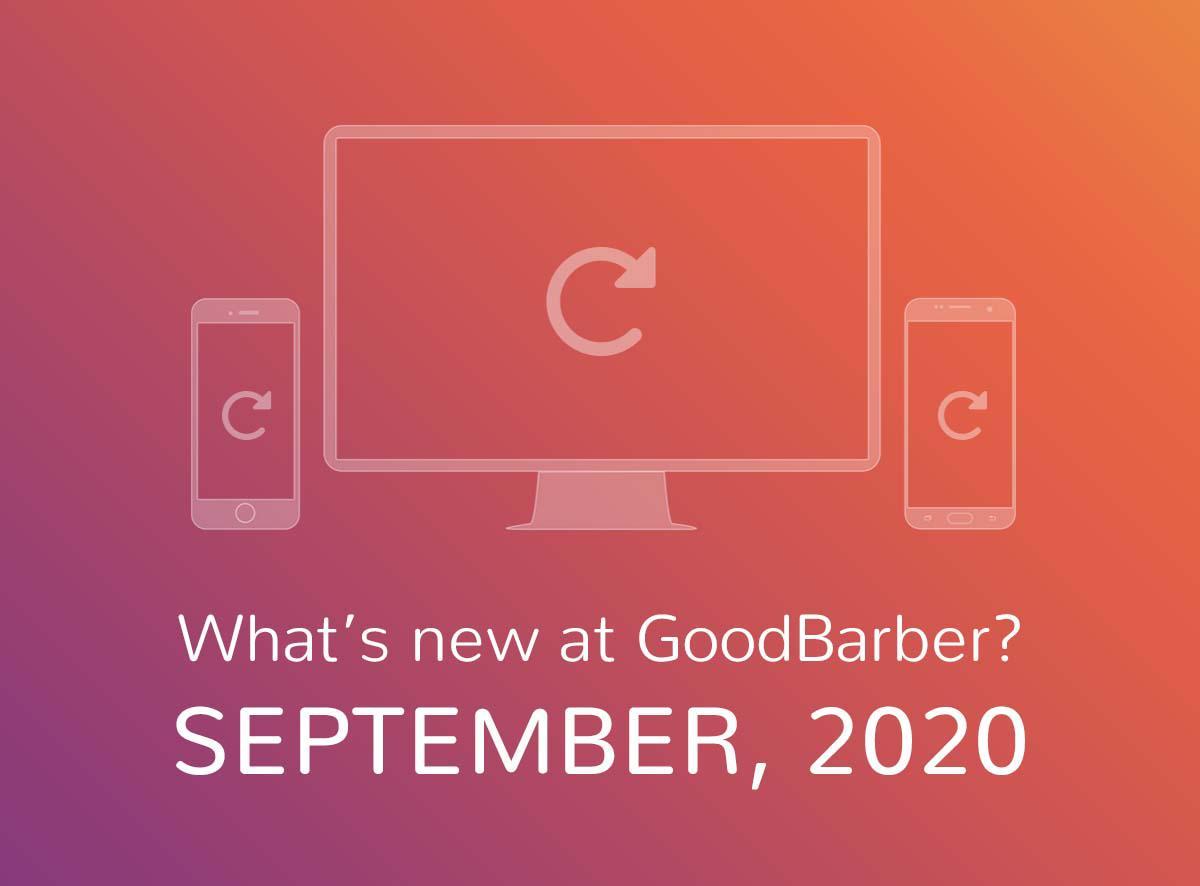Quoi de neuf chez GoodBarber? Septembre 2020