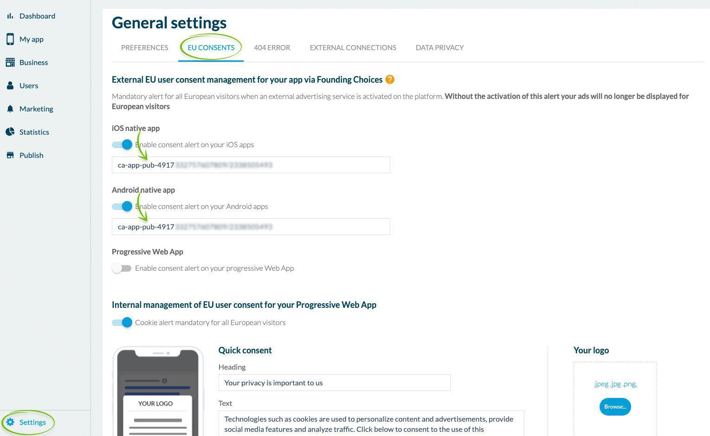 Classic App: conformez-vous au Transparency and Consent Framework de l'iAB Europe