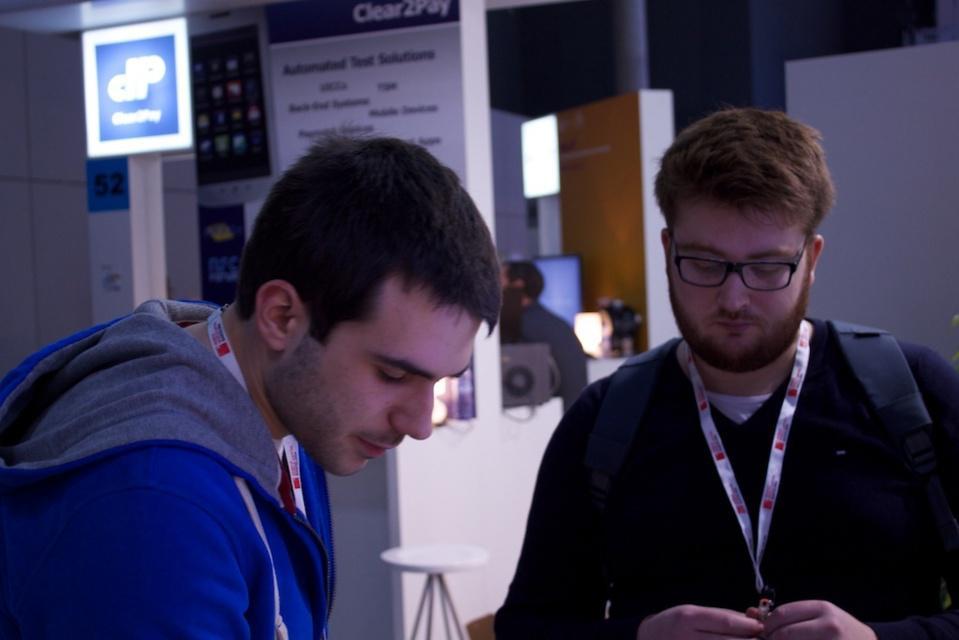 Sur le stand GoodBarber avec un Beautiful User !