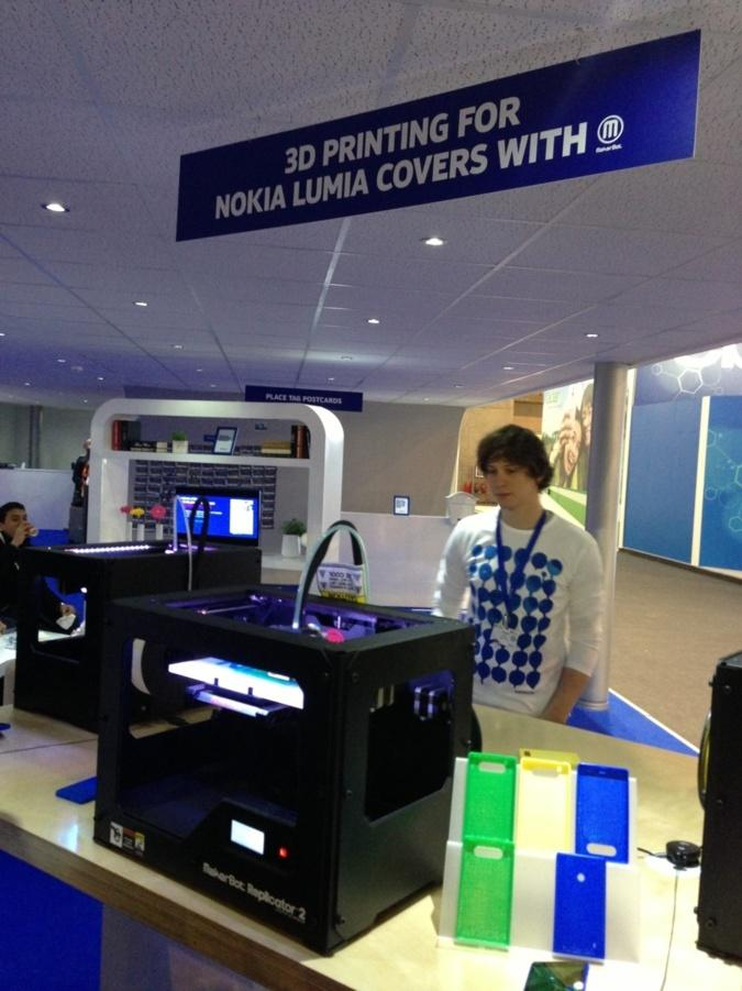 Imprimante Nokia 3D, impressionante.