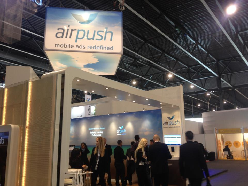 Le stand assez impressionant d'AirPush