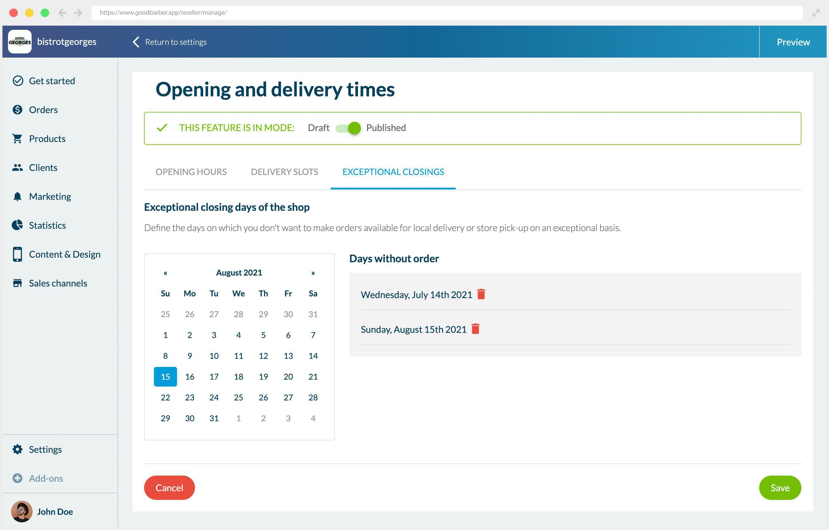 Comment configurer votre nouvel add-on Créneaux de livraison dans votre Shopping App