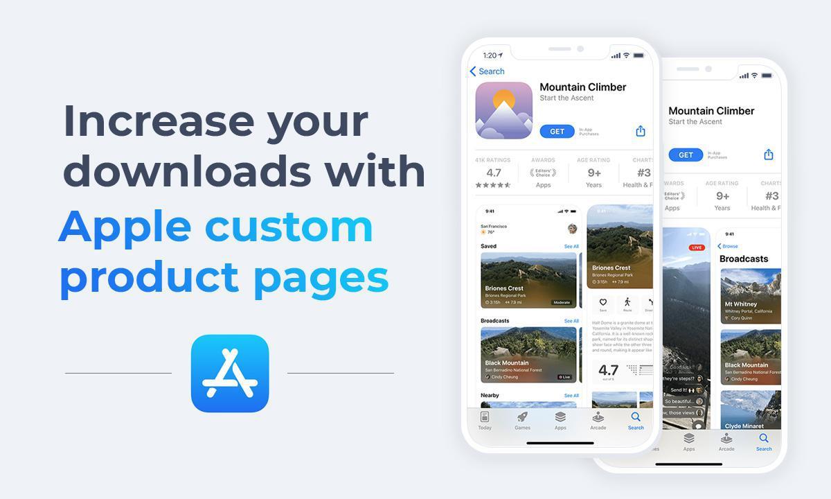 Pages Produit Personnalisées dans l'App Store