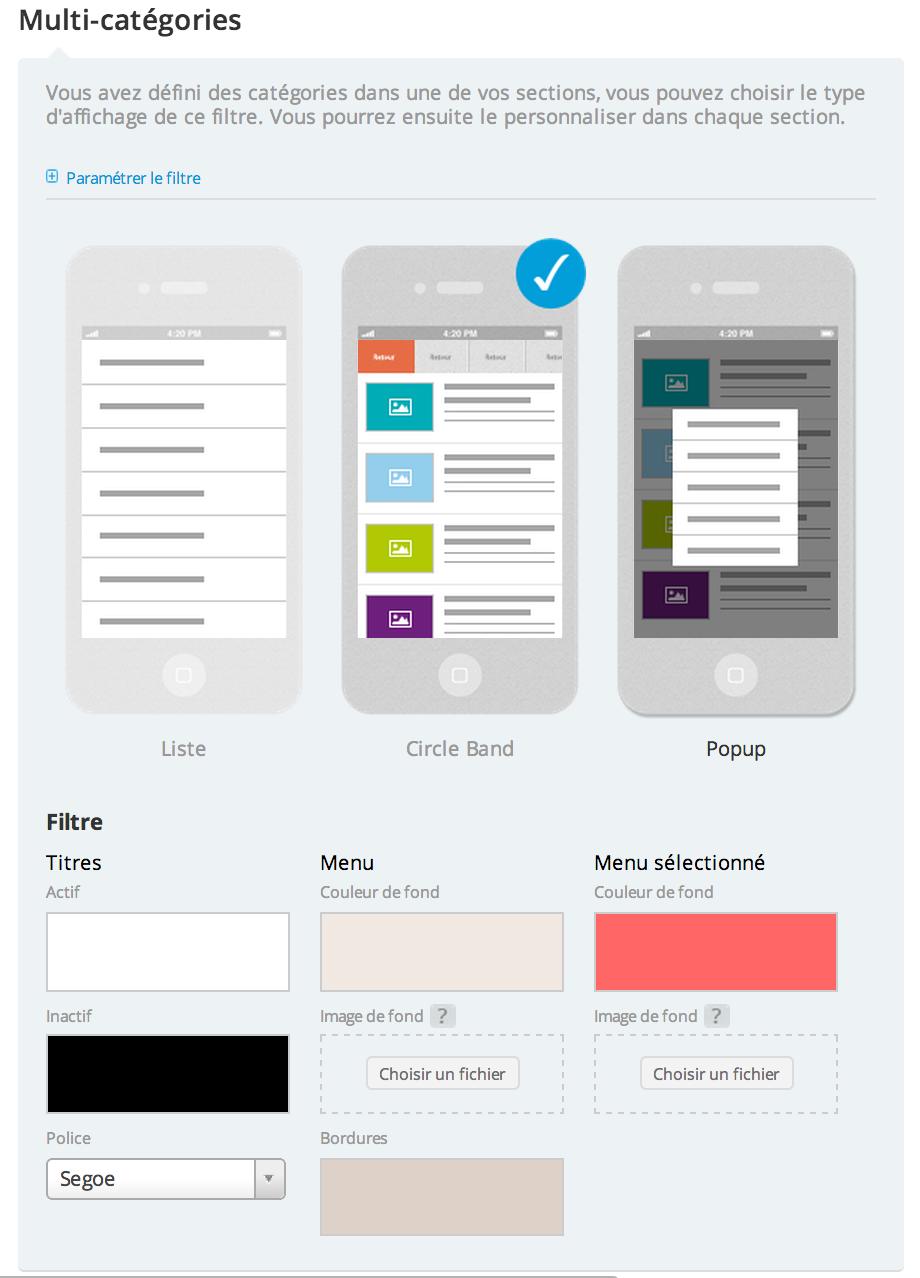Comment créer une application claire avec beaucoup de contenu ?
