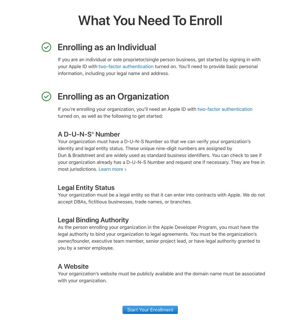 Comment créer son compte développeur chez Apple ?