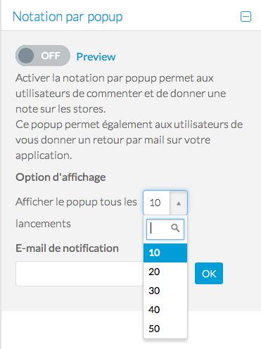 Ajouter la notation par Pop-Up à votre Beautiful App