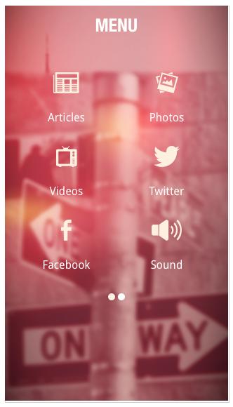 Exemple de Blur - Thème BigApple
