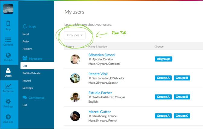 """Renforcez les fonctionnalités sociales de votre app avec le nouvel Add-On """"Groupes d'Utilisateurs"""""""