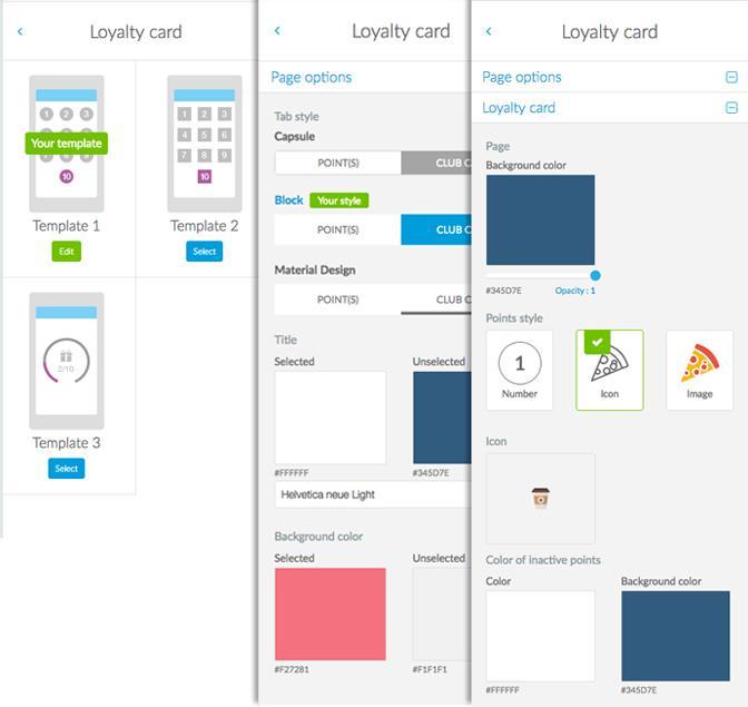 Comment customiser votre Carte de fidélité - design
