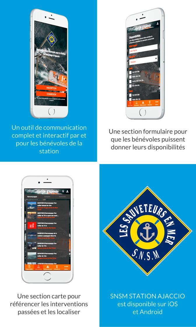 SNSM Station d'Ajaccio, une app pour et par les bénévoles
