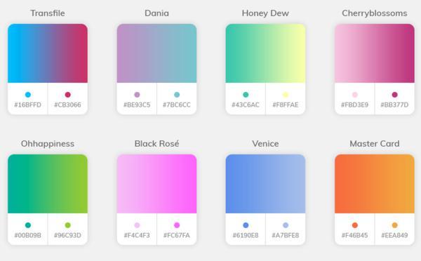 Dégradé de couleurs
