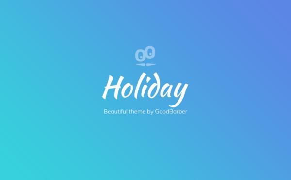 Nouveaux thèmes GoodBarber 4.0 : Holiday