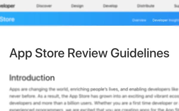 Règle App Store 4.2.6 et générateurs d'apps