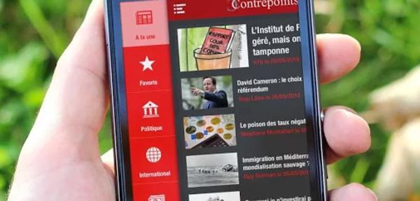Blog politique et d'information : GoodBarber propulse Contrepoints sur iOS et Android