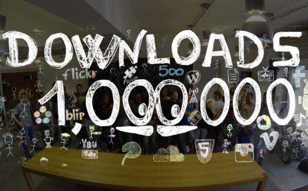 1 000 000 de téléchargements !