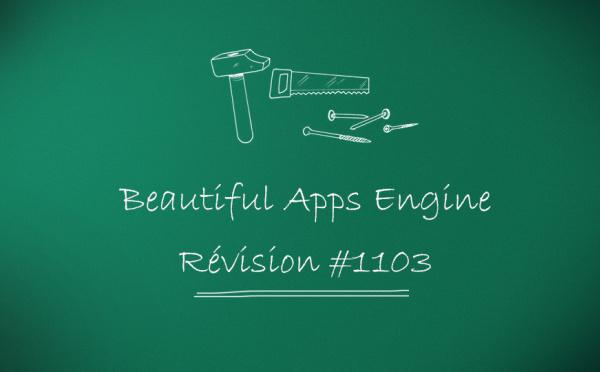 Beautiful Apps Engine: Révision #1103