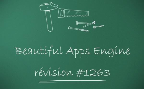 Beautiful Apps Engine : Révision #1263