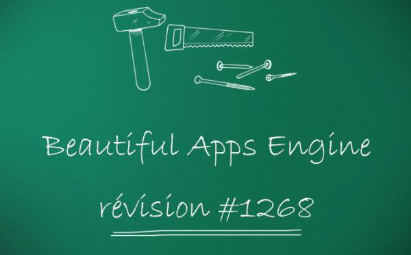 Beautiful Apps Engine : Révision #1268
