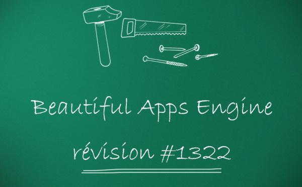 Beautiful Apps Engine : Révision #1322