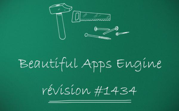 Beautiful Apps Engine : Révision #1434