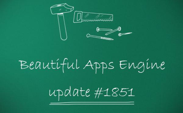 Beautiful Apps Engine : Révision #1851