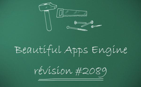 Beautiful Apps Engine : Révision #2089