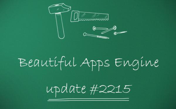 Beautiful Apps Engine : Révision #