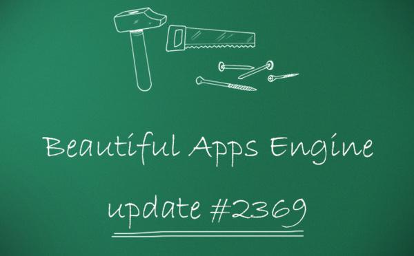 Beautiful Apps Engine : Révision #2369