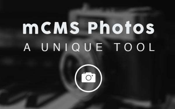 Notre mCMS Photos, une section qui peut se suffire à elle même