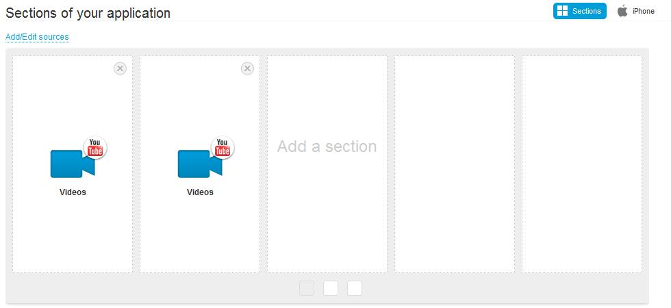 You can select as many sections to be linked with playlists as you wish.
