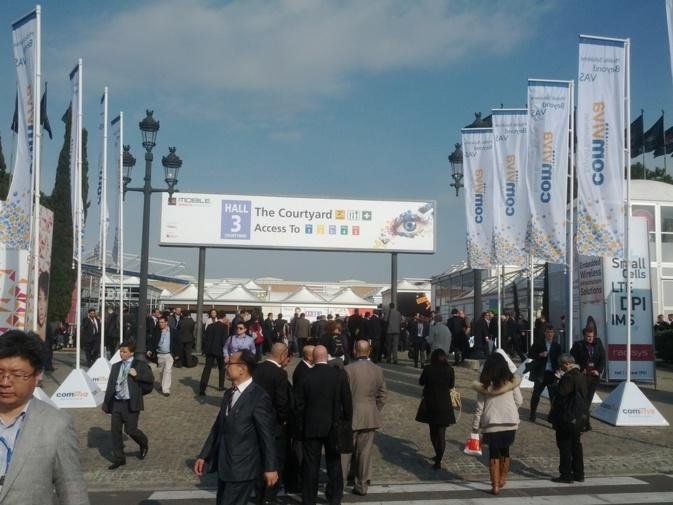 In the center of the Mobile World Congress