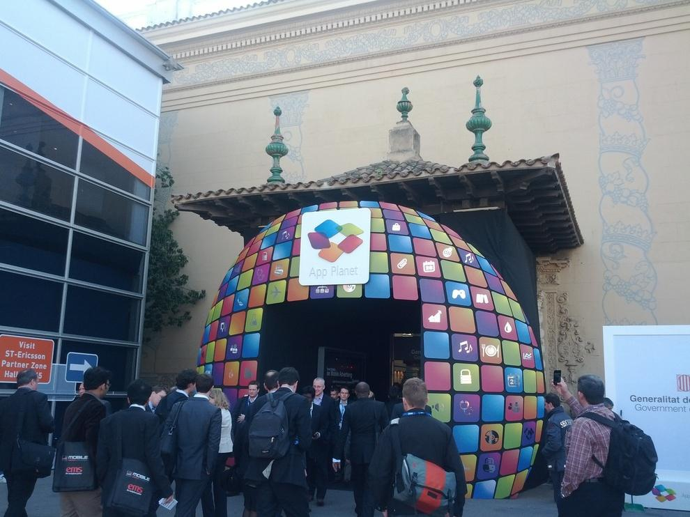 The entrance to App Planet, the building dedicated to apps