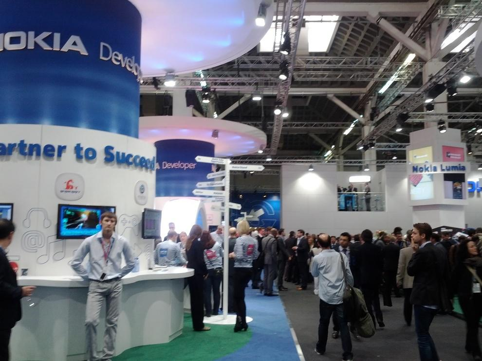 The Nokia booth