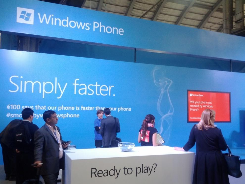 The Microsoft - Windows Phone booth