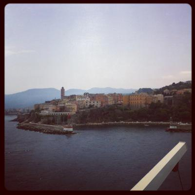 Bastia viewed from the boat