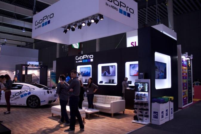 The awesome GoPro booth in the Hall 5!